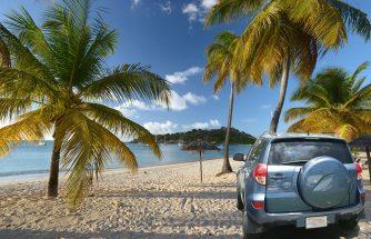 visit Antigua beaches by car